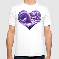 I Heart Mermaids- ver. 1 Mens Fitted Tee White SMALL