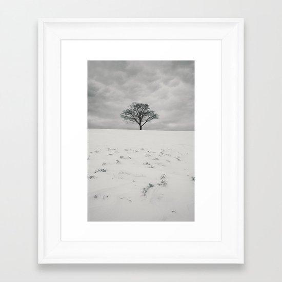 White Winterscape Framed Art Print