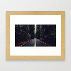 The woods have eyes Framed Art Print