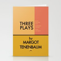 Three Plays By Margot Tenenbaum Stationery Cards