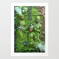 Green Ladies Art Print