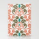 Moroccan Damask Stationery Cards