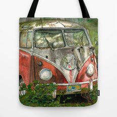 VW Bus in the Woods Tote Bag