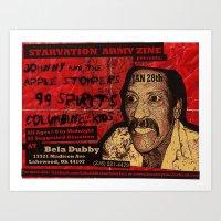 Show Flyer, 1/28/12 (Joh… Art Print