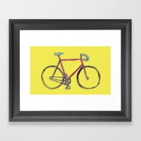 this is my bike. Framed Art Print