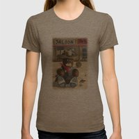 Sheriff Bear Womens Fitted Tee Tri-Coffee SMALL