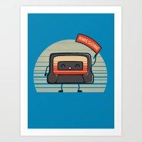 Cute Mix Tape Art Print