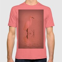 Little Egret Mens Fitted Tee Pomegranate SMALL