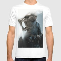The Hound's Fall White Mens Fitted Tee SMALL