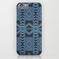 Blue Doodle Geometry  iPhone 6 Slim Case