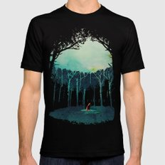 Deep In The Forest Mens Fitted Tee Black SMALL
