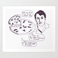 Cheesy Charlie Brooker Art Print