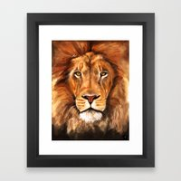Iron Lion Framed Art Print