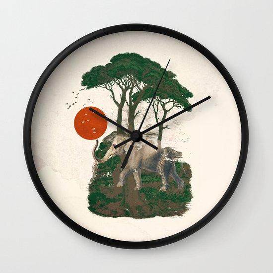 Savanna Sunrise Wall Clock