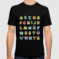 Alphabet Mens Fitted Tee Black SMALL