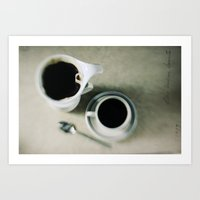 Coffee.black Art Print