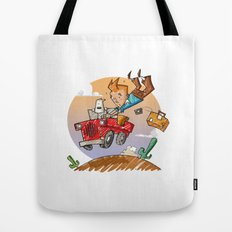 Tintin and Snowy! Tote Bag