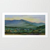 Mt. Mansfield at Dusk Art Print