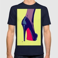 Shoe Mens Fitted Tee Navy SMALL