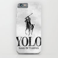 iPhone & iPod Case featuring Yolo Polo - Game of Thrones by alex lodermeier