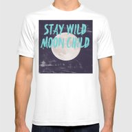 Stay Wild Moon Child Mens Fitted Tee White SMALL