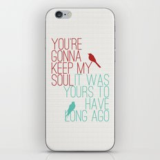 Keepsake - State Radio Lyrics iPhone & iPod Skin