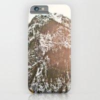 iPhone & iPod Case featuring Snowy Mountain Peak in the Sun by Kurt Rahn