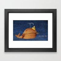 i am a happy whale Framed Art Print