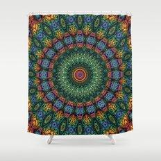Polished Stone Mandala Shower Curtain