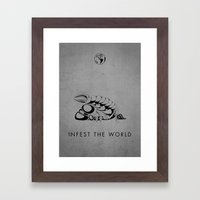 Infest the world Framed Art Print