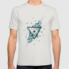 Dark Matter V02 Mens Fitted Tee Silver SMALL