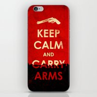 Keep Calm And Carry Arms… iPhone & iPod Skin