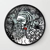 Girl in Bird Wall Clock
