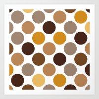 Big Loving Dots: Brown Art Print