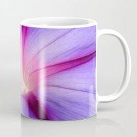 Lilac and Fuschia Morning Glory in Macro Mug