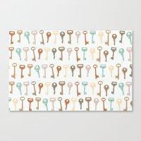 keys pattern Canvas Print