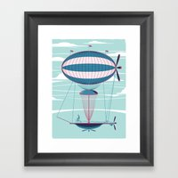 Sky Cycle Framed Art Print