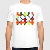 Lined II Mens Fitted Tee White SMALL