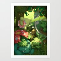 Solar Beam Art Print