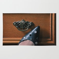 Rhinestoned Left Shoe Rug