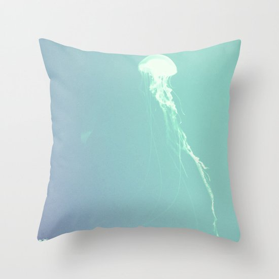 Pulsating Cnidaria. Throw Pillow