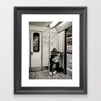 Keep Away Framed Art Print
