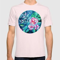 Tropical Camellia Extravaganza - oil on canvas Mens Fitted Tee Light Pink SMALL