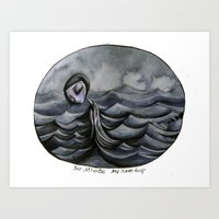 her Atlantic... Art Print