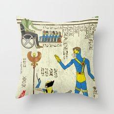 Hero-glyphics: X Throw Pillow