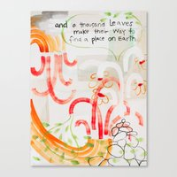 And A Thousand Leaves Make Their Way (No.12) Canvas Print