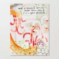 And A Thousand Leaves Ma… Canvas Print