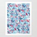 Shattered Floral Art Print