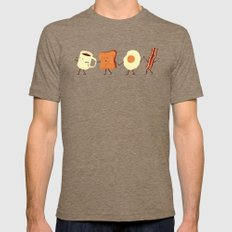 Let's All Go And Have Breakfast Mens Fitted Tee Tri-Coffee SMALL