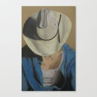 Canvas Print featuring Bobby The Cowboy by James Davis